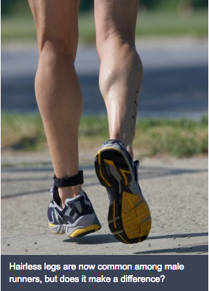 Why do male runners really shave their legs?